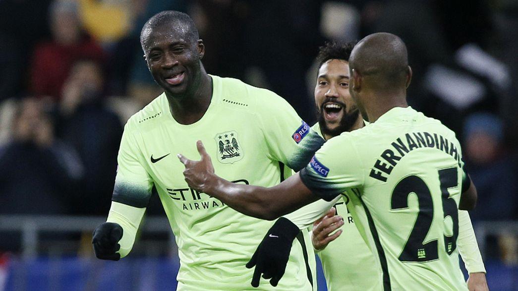 Manchester City pone un pie en cuartos de la Champions (1-3) y el Atlético domina aunque no resuelve (0-0)