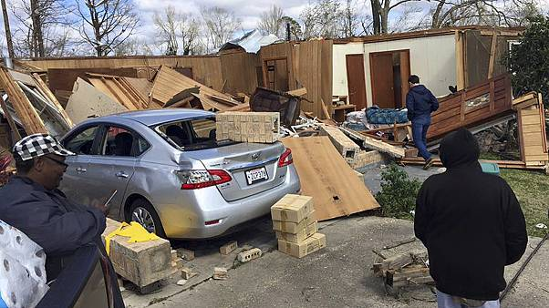 Several dead as US south and east lashed by storms and tornadoes