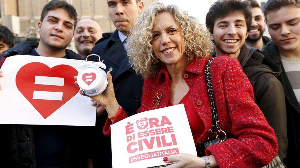 El Senado italiano aprueba la primera ley del país sobre uniones civiles