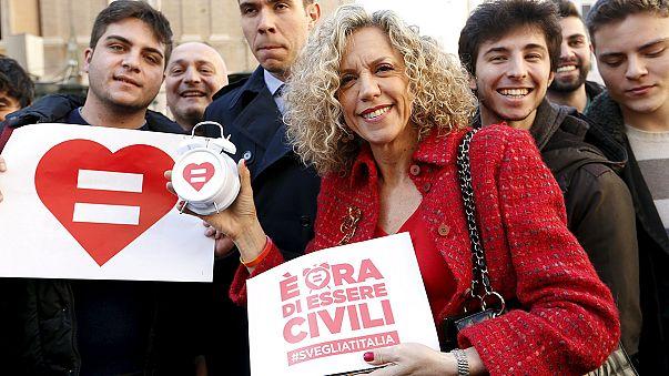 Italian Senate approves watered-down bill allowing civil unions