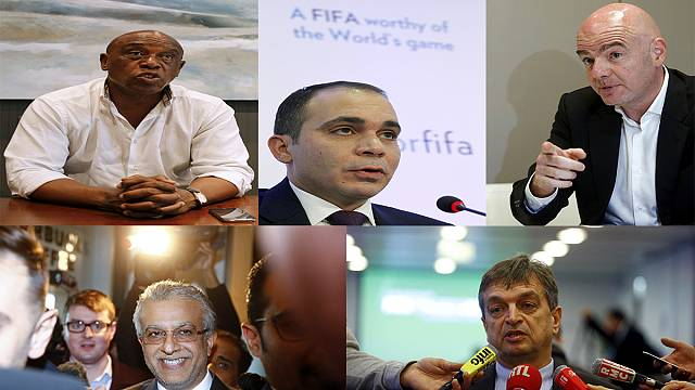 FIFA's five presidential candidates