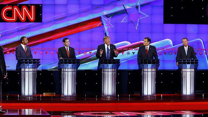 US election campaign: Trump under fire in pre-Super Tuesday debate slugfest