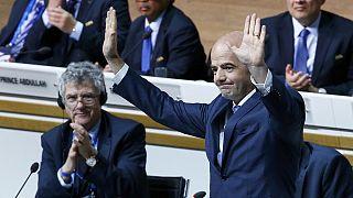 Πανηγυρική εκλογή του Τζιάνι Ινφαντίνο στην προεδρία της FIFA