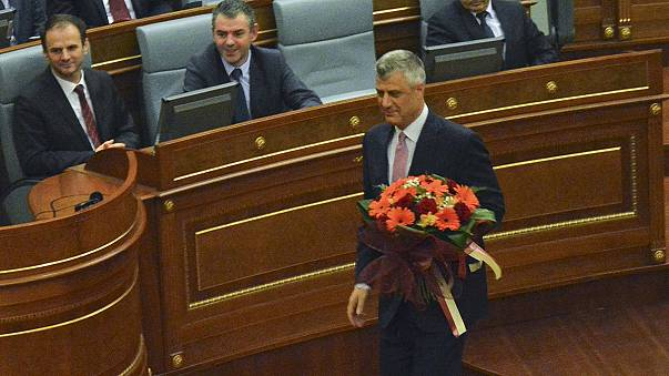 Kosovo violence as Hashim Thaci is elected president