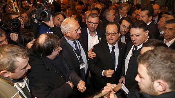 French President heckled by angry farmers
