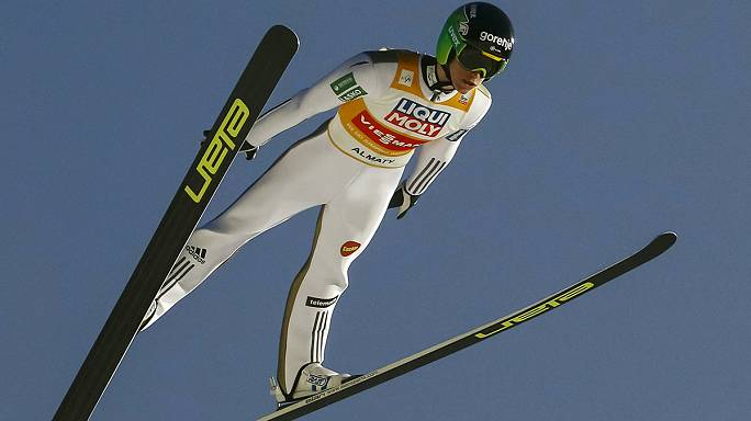 Prevc jumps closer to title on Almaty slopes