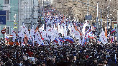 Russie : manifestations en hommage à Boris Nemtsov, un an après son meurtre