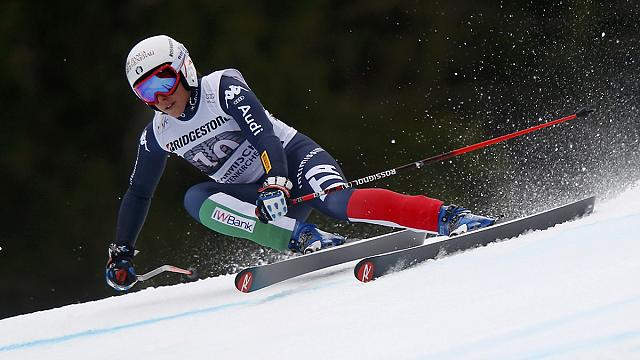 Brignone takes first podium finish in super-G as Vonn crashes out