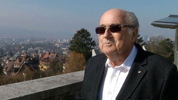 Joseph Blatter, satisfecho con la elección de Gianni Infantino