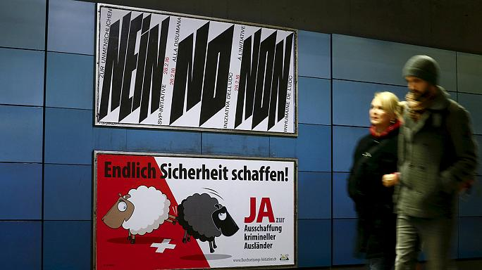 İsviçre'de 'polisle tartışan yabancılar sınır dışı edilsin mi?' referandumu