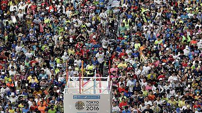 Ethiopia's Lilesa and Kenya's Kiprop win in Tokyo marathon