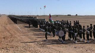 Western Sahara's forces military parade