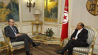 Alain Juppé visite le musée du Bardo à Tunis