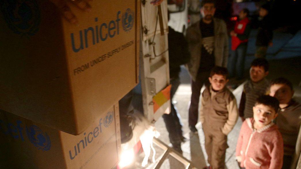 Primeras entregas de ayuda humanitaria en Siria tras la declaración de la tregua el pasado sábado
