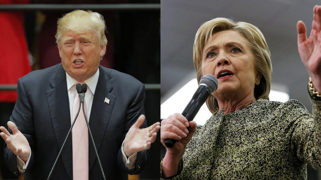 EUA a caminho de um frente a frente Trump-Clinton?