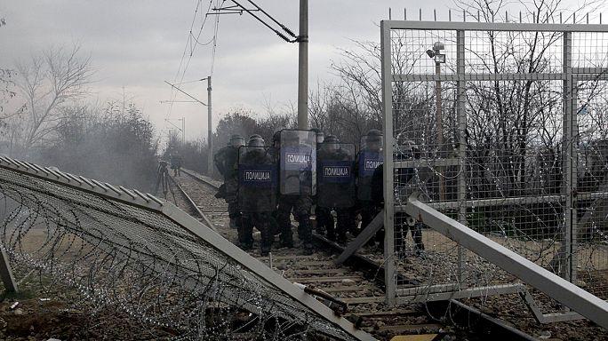Csöndes az éjszaka a görög-macedón határon