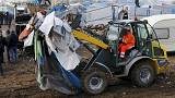 More confrontations at Calais migrant camp after bulldozers move in