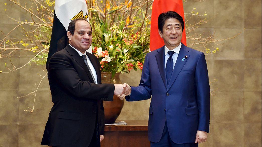 Al Sisi asegura inversiones japonesas por valor de más de 17.000 millones de dólares