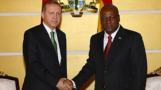 Turkey's President arrives in Ghana