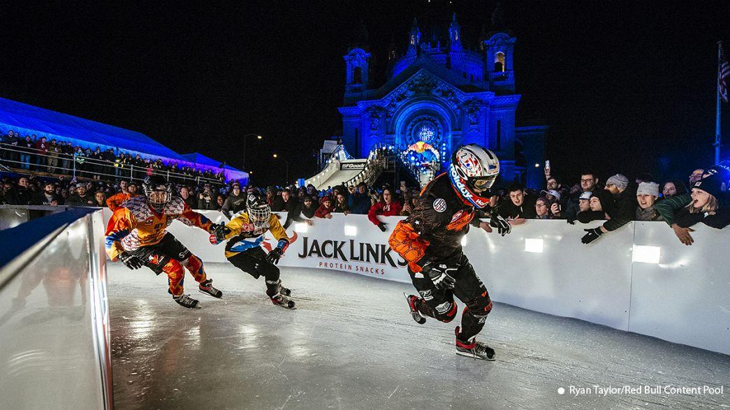 El Crashed Ice, la modalidad extrema del patinaje sobre hielo