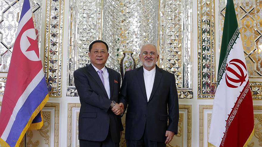 Image: Iran's Foreign Minister Javad Zarif and North Korea's Foreign Minist