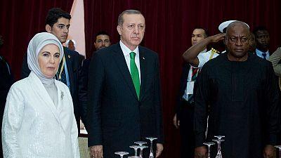 Infrastructures et terrorisme au menu de la visite d'Erdogan au Ghana
