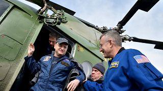 Les astronautes de l'ISS ont atterri sur terre