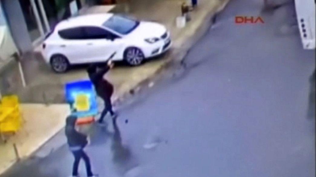 Video: Zwei Attentäterinnen greifen Polizeistation in Istanbul an