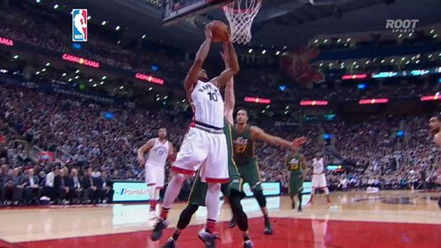 الدوري الأمريكي لكرة السلة  للمحترفين : تورونتو رابتورز يسحق يوتا جاز
