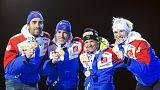 El relevo mixto francés se corona campeón del mundo de biathlon en Oslo