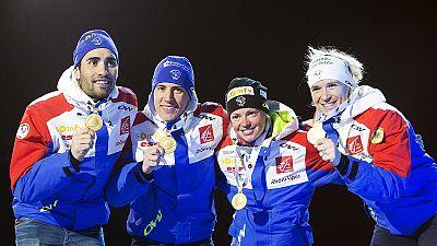Mondiaux de Biathlon: la France commence par l'or