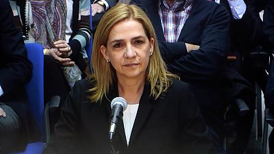 Spain's Princess Cristina testifies in tax fraud trial