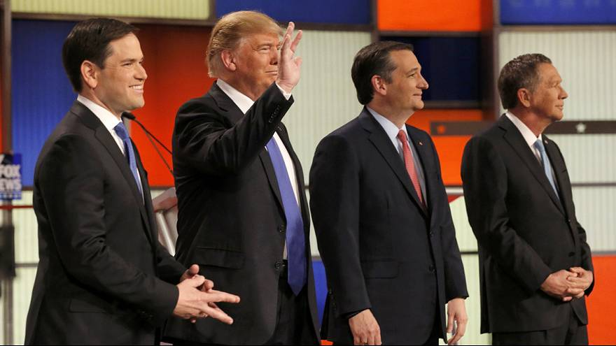 Republican debate turns into cock fight – Trump defends size of his man parts