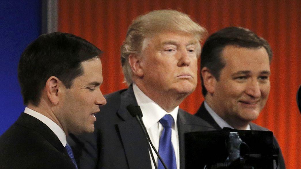 Rubio y Cruz cargan contra Trump en el debate televisado