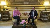Hollande and Merkel stand together on migration ahead of EU-Turkey summit