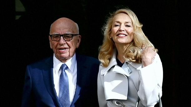 Rupert Murdoch marries his fourth wife, Jerry Hall, in London