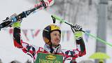 Hirscher defends World Cup title in giant slalom