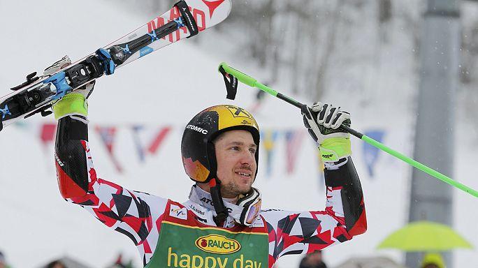 Hirscher gagne à Kranjska Gora, un géant pour l'histoire