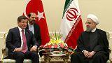 رئيس الوزراء التركي يزور طهران ويقابل الرئيس الإيراني