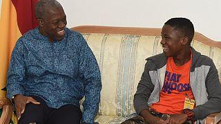 Ghana: Vice President hosts rising teen movie star, Abraham Attah