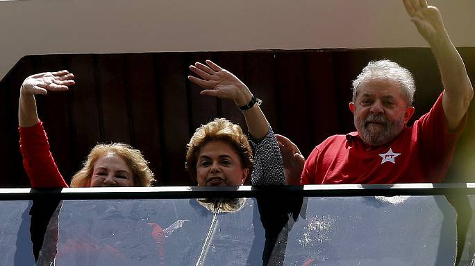 Brazilian president in show of support for her predecessor