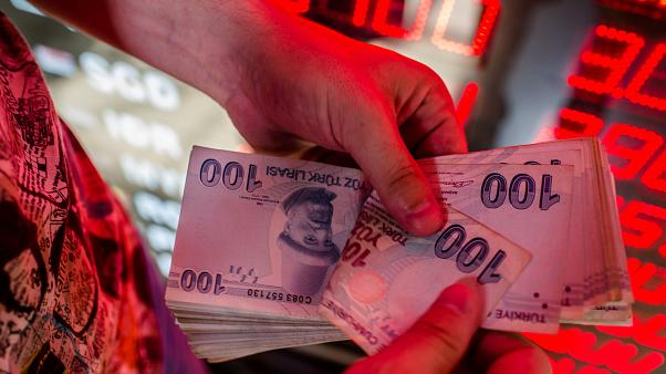 Image: The Turkish lira plummeted in value Friday.