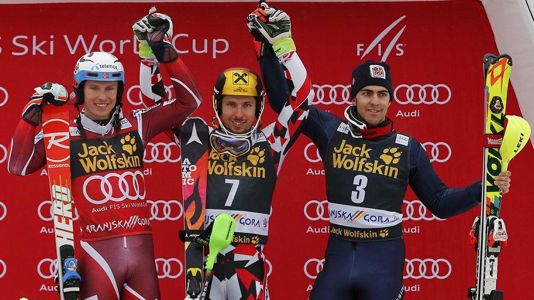 Marcel Hirscher sigue reinando en la Copa del Mundo de esquí alpino