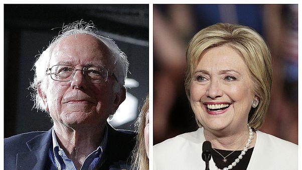 پیروزی برنی سندرز در نبراسکا و کانزاس و انتقاد دوباره از درآمدهای رقیبش هیلاری کلینتون