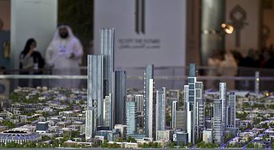 This scale model of the new Egyptian administrative capital was unveiled in 2015.