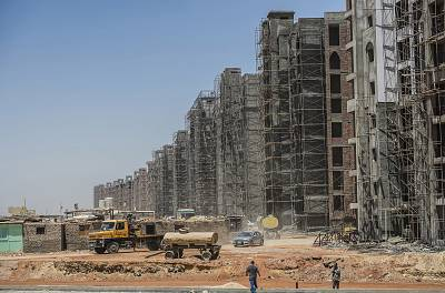A construction site in Egypt\'s new administrative capital.