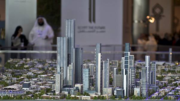 Image: A model of the new Egyptian capital