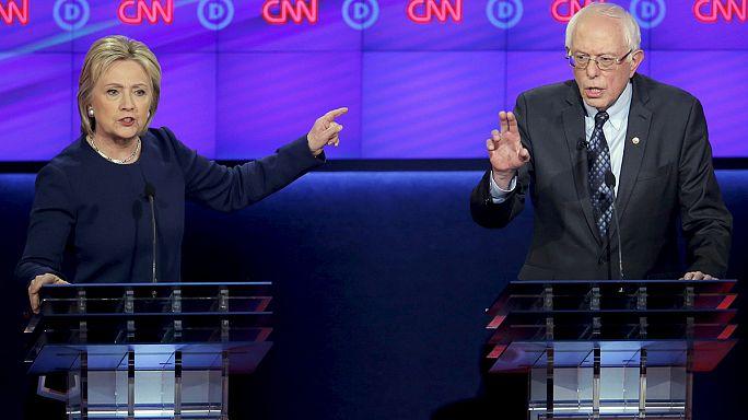 Primaires USA: débat tendu entre Clinton et Sanders
