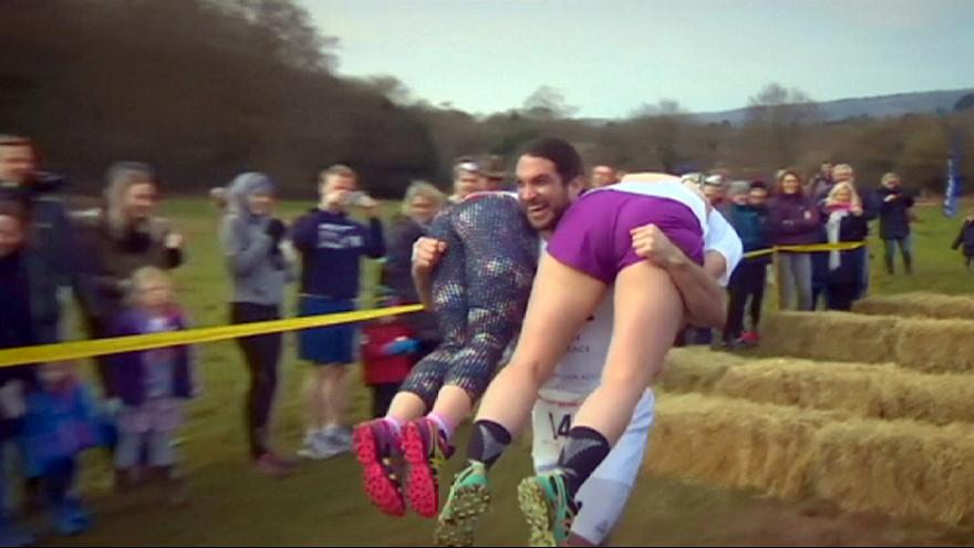 UK wife-carrying championships: 'A test of true love'