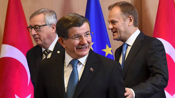 قمة أوروبية تركية في بروكسل لبحث أزمة اللاجئين